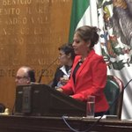 La Pdta. @MorelosCongreso @lucymeza07 hace uso de la tribuna y asegura que el Congreso es un órgano actuante. http://t.co/s9lN41lQy7