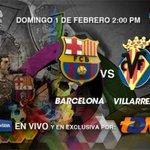 Hoy no te puedes perder EN VIVO y EN EXCLUSIVA el Barcelona vs Villarreal por la señal de TDN http://t.co/CIGkXjFFep http://t.co/Yt26YTSZn8