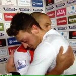 Ozil and Walcott after the game http://t.co/rNiOkw4pf1 [via @nana_alaouie] #afc