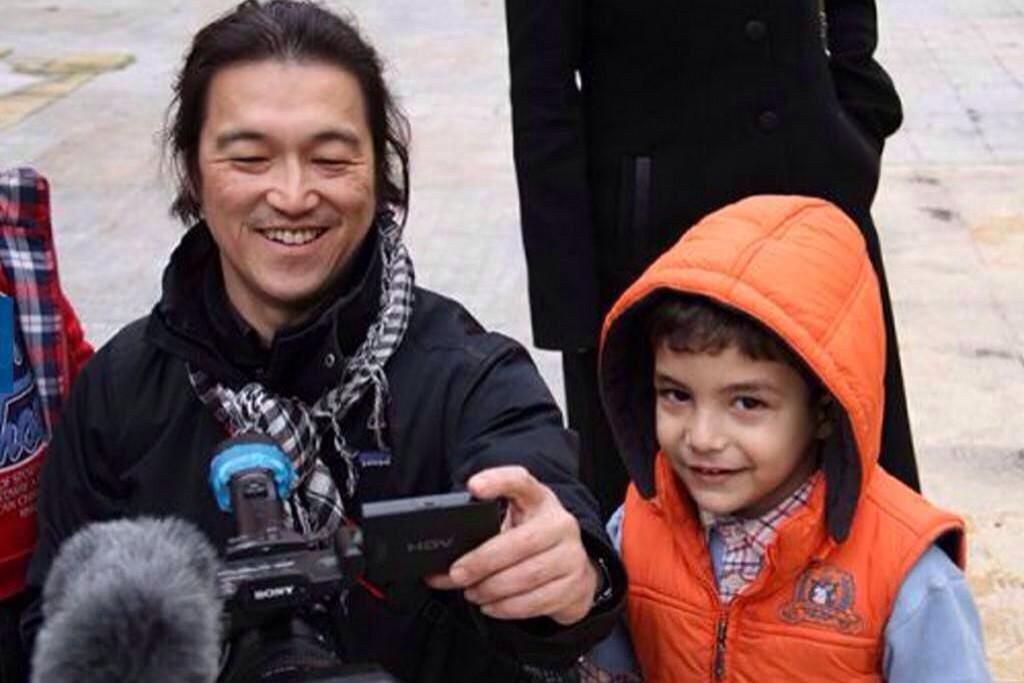 I'll always remember #KenjiGoto like this! We need more people like him! http://t.co/T35XO0FKmO