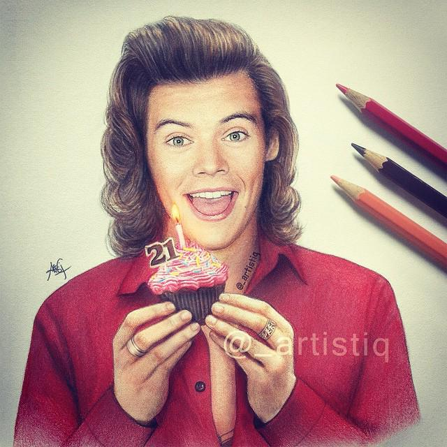 """ Happy 21st Birthday Harry!!    YESYES YES"