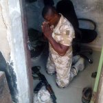 """""""@ahmagem: A soldier thats a Christian saying his prayers before confronting Boko Haram. http://t.co/9Q8ExPBcvF"""" Brave, so brave"""