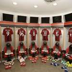 The red&black locker room is waiting for the Rossoneri! #MilanParma http://t.co/gR3ez5vU4W