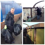 Brilliant afternoon in #Holbeck doing some community improvements in the area #Leeds #LovinLeeds #ILoveLS http://t.co/xtKIfK1ADA