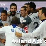 HISTORIQUE ! Une 5ème étoile ! L'équipe de France est championne du Monde !! (22-25) #FRAQAT #HandAction http://t.co/RgWnyRYOrN