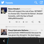 Reno Omokri has committed political hara-kiri. See what he does to our clueless GEJ @Ayourb http://t.co/G99d8ZM392