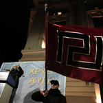 Greek neonazi party #Goldendawn yesterday on streets of #Athens #Zlatazora #Grčija #Greece http://t.co/TWCg2s3YzE http://t.co/Y9OVDKiWCc