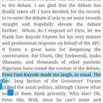 """""""@omojuwa: How can someone use 1 sentence to reply your article? Jeez!"""" Just 5words. A very short sentence. http://t.co/jkJVY6hadb"""