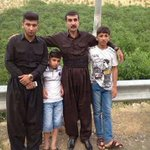 General Sherko & General Hussein with their kids. Both died fighting Islamic State militants a few days ago in Kirkuk http://t.co/wHwCAuCyKT
