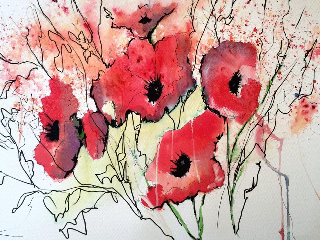 Brusho Poppies http://t.co/RVpYz2jbo5