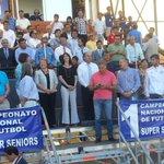 Presidenta Bachelet, en compañía de Ministra @nataliariffo, encabeza inauguración 1° Nacional de Fútbol Super Senior http://t.co/MUCCJXm5x9