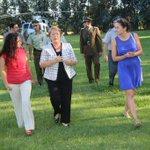 Intendenta Morin Contreras acompaña a Presidenta Bachelet en Inauguración del Campeonato Súper Senior en Codegua http://t.co/ItATQrkYCr