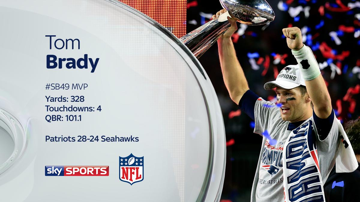 Tom Brady is the #SB49 MVP. #SkySuperBowl #SuperBowl http://t.co/SVR6oEVEvA