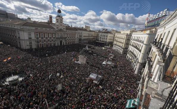 Así estuvo Madrid en la convocatoria hecha por 'Podemos'.... Que lástima, de verdad... http://t.co/HIRpWyHXdg