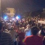 Los festejos en la llegada del plantel de Mitre (vía Fede Roggerone) http://t.co/3SrybSw8hP