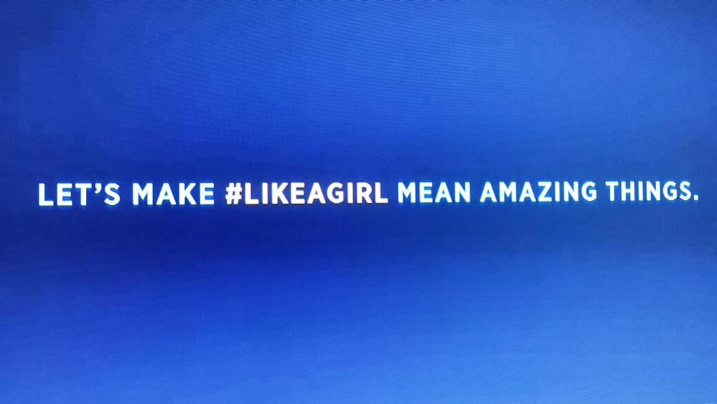 "Awesome commercial ""Always""....#LIKEAGIRL http://t.co/1NJ96eqIoJ"