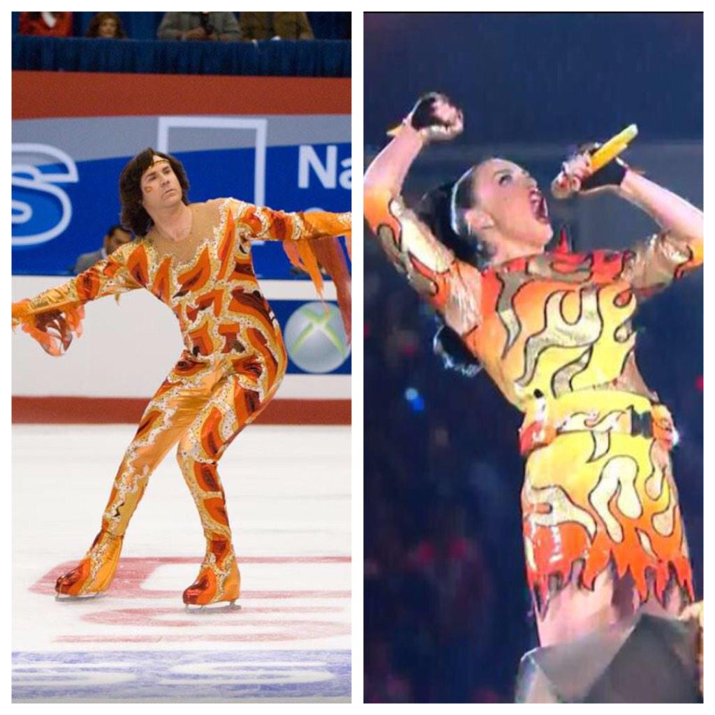 Who wore it best...Will Ferrel or Katy Perry? #halftime #HalftimeShowKatyPerry http://t.co/XaL5uEtkWt