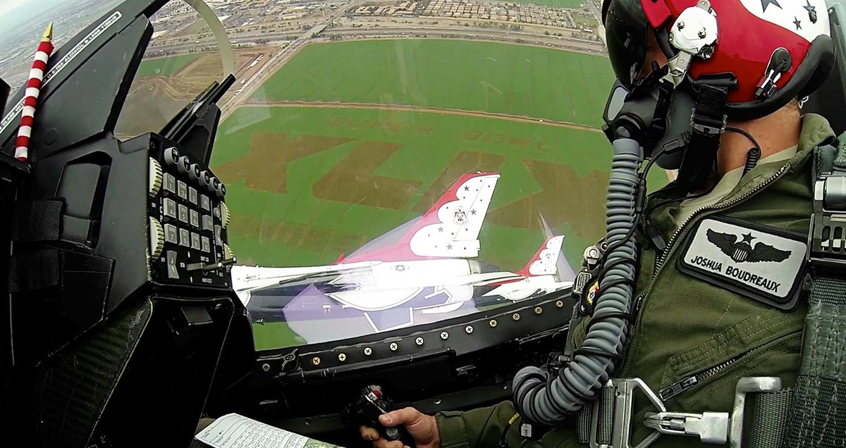 MT @12News: Awesome photo from the @AFThunderbirds from their flyover practice! #SB49 #thankyou http://t.co/KA1hPejdiH