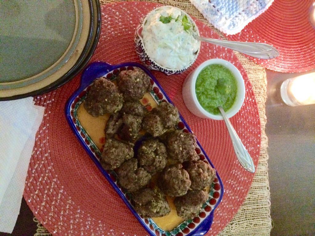 ALL #homemade lamb meatballs w/ cilantro lime & tzatziki dip- teriyaki & buffalo wings- caramel chocolate
