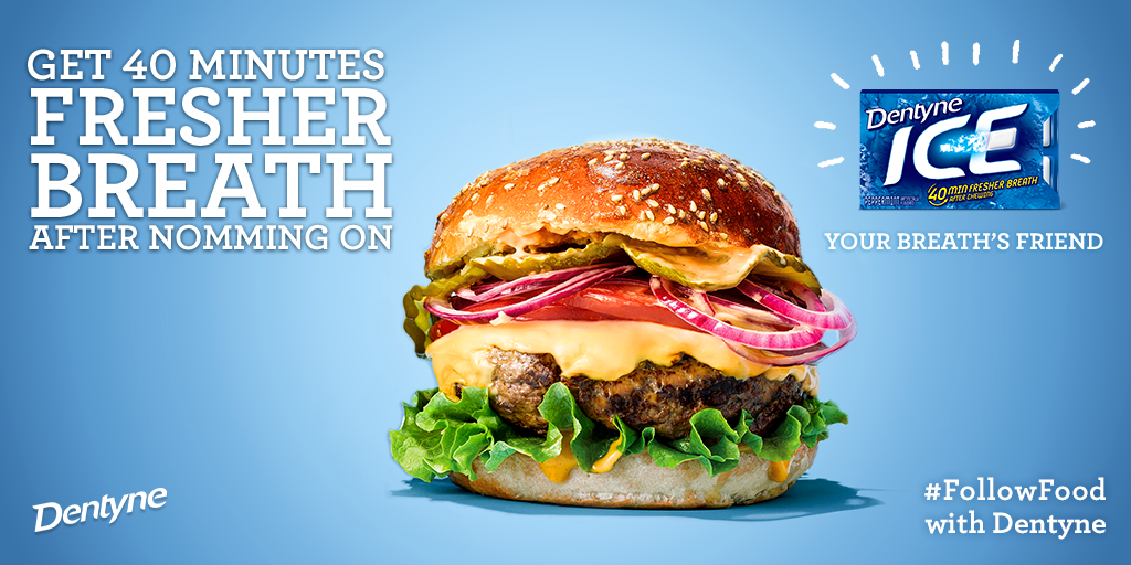 You've got a lot on your plate, you're going to need fresher breath. #FollowFood http://t.co/B5odnsiC69