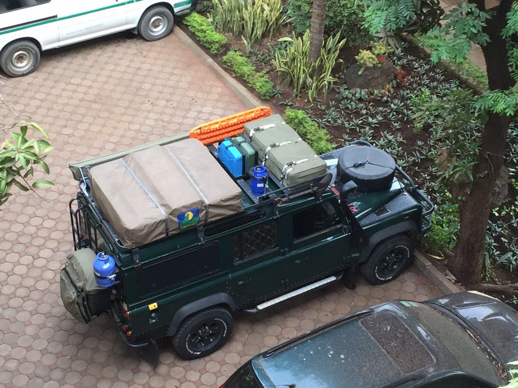 Land Rover Defender ready for adventure in Moshi, Tanzania . My favorite vehicle! http://t.co/TCkRLmZGXh