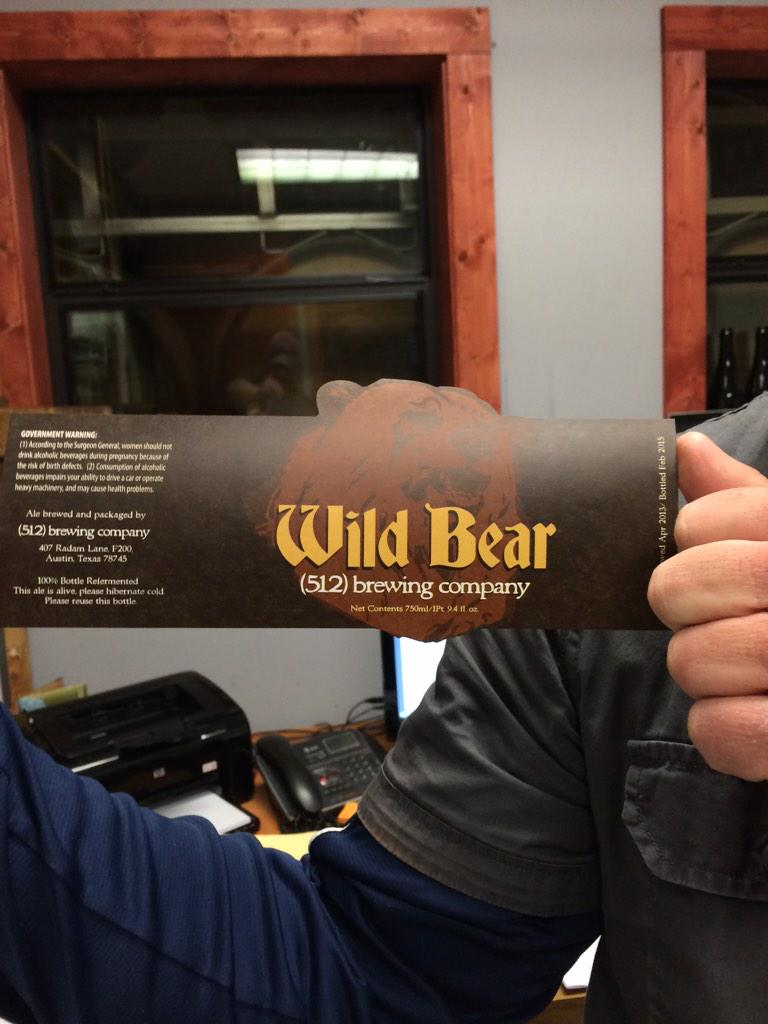 We are very excited to announce that bottles of our Wild Bear will be available very soon. Labels are in. Stay tuned! http://t.co/DEayxptdFH