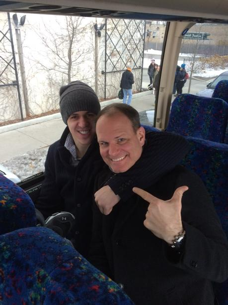 He is a man of his word!!!  I am sitting NEXT to Geno on the bus!!! -DP http://t.co/aLce2fJavF