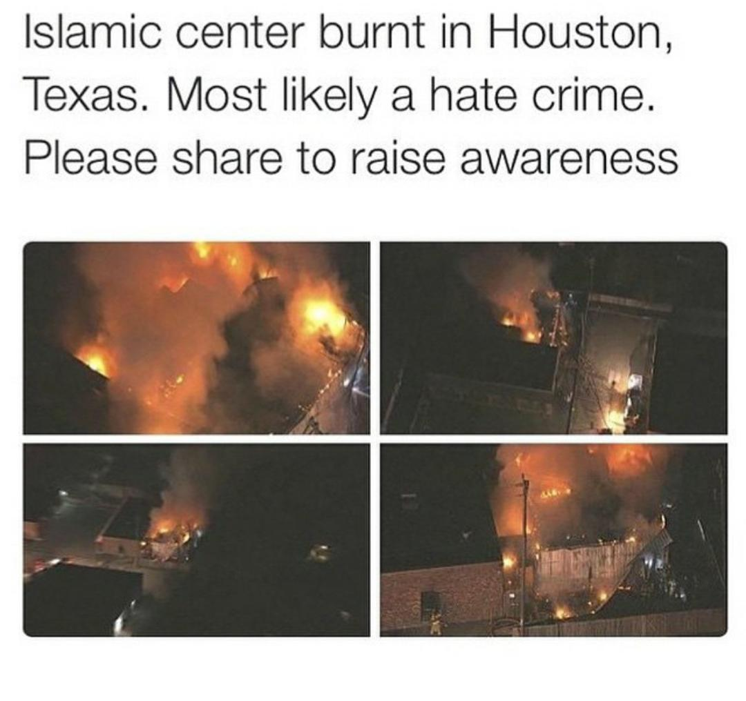 Even if mainstream media ignores the terror against muslims on & Islamic centers in #US, we wont. #MuslimLivesMatter http://t.co/1DXfnhjIrl