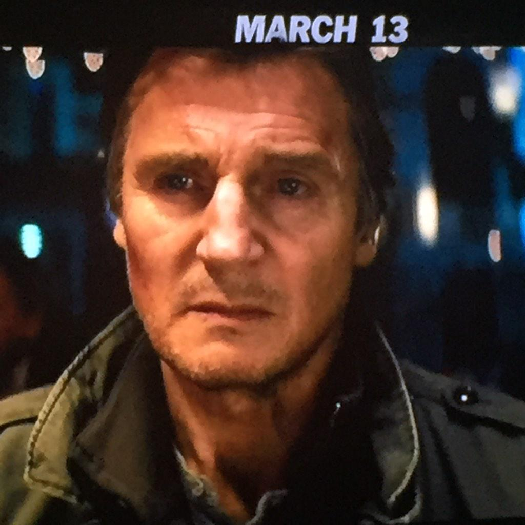 DashieXP (@DashieXP): Another damn movie? Didn't  Taken 3 just drop? he look tired as fuck! He shoulda TAKEN a nap between movies..No? Ok. http://t.co/PuxUFFKc87