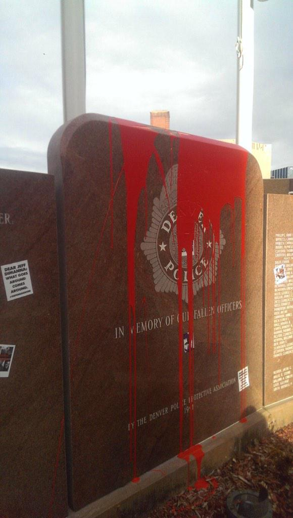 DAMAGE TO POLICE MEMORIAL TO FALLEN OFFICERS http://t.co/uKY24fKrVS