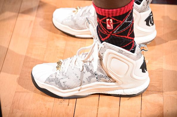 Taco Bell Skills Challenge Champion @patbev21 rocking the adidas D Rose 5  Boost 'Superstar