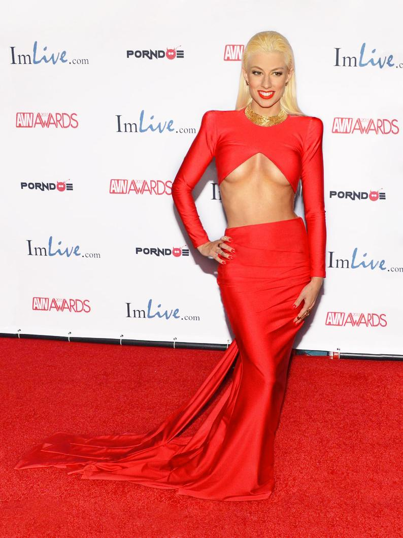 On the AVN Awards 2015 Red Carpet, a big thanks to the French Designer Claudia Bruneau for this stunning