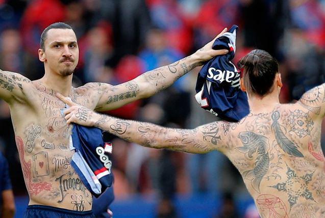 Zlatan Ibrahimovic Tattoos Names