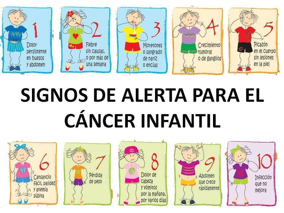 Signos de alerta para el cáncer infantil. http://t.co/y5mgEInXrM
