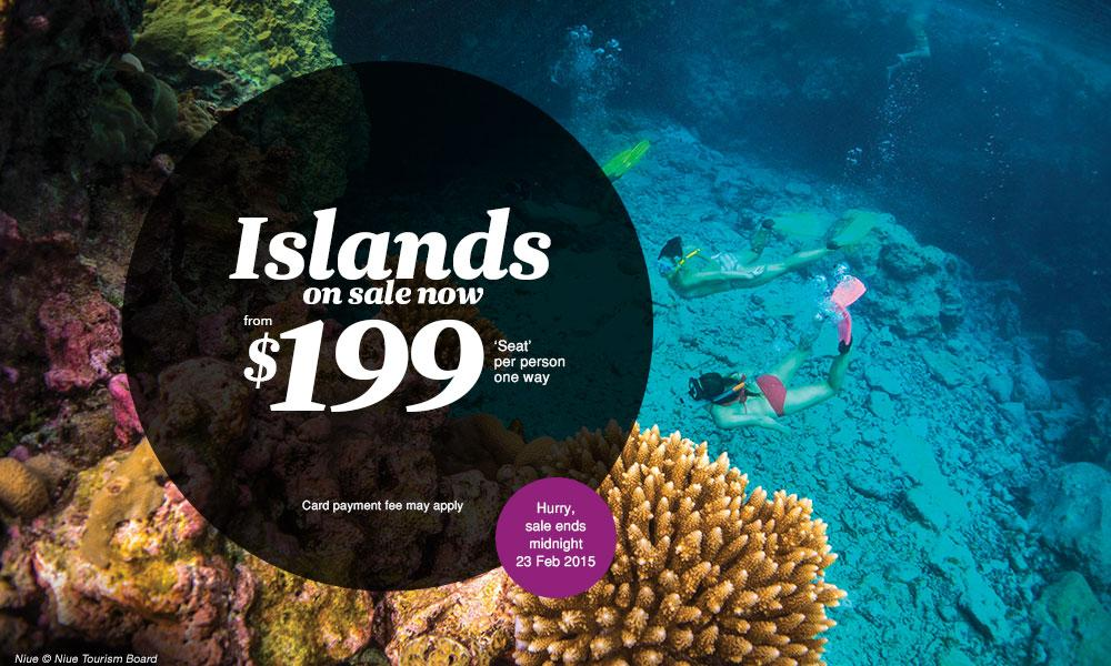 Get ready to pack your suitcase and escape the routine – the Islands are on sale now!