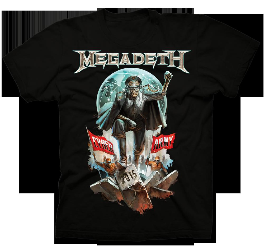 2015 Megadeth Cyber Army Shirt. http://t.co/GyQKBt26Hg http://t.co/fpUsa6gLbo