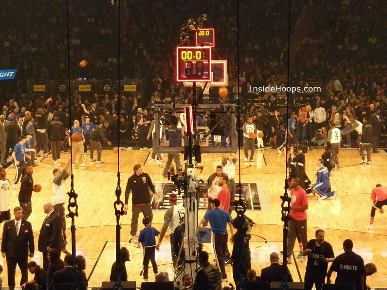 My #NBAAllStarGame view, obstructed by a few wires but otherwise good: http://t.co/0va4TlWaaG