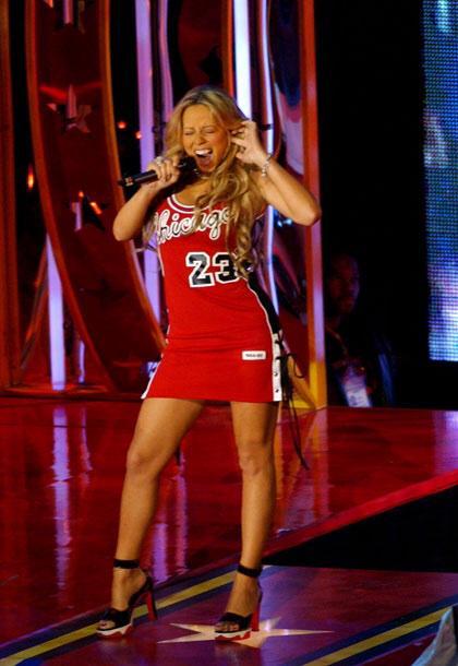 Nothing tops Mariah's Jordan dresses #AllStar2015 http://t.co/Nthd5Oa5Mu