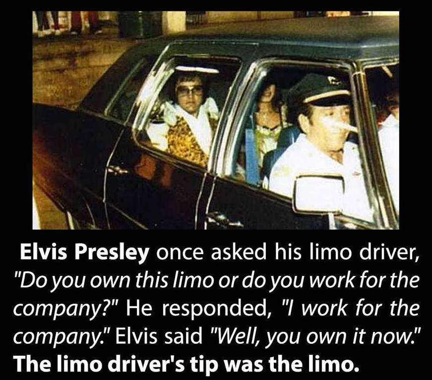 Elvis was an extremely generous person. Stuff like that happened all the time around him. http://t.co/XWfMq5aEfg