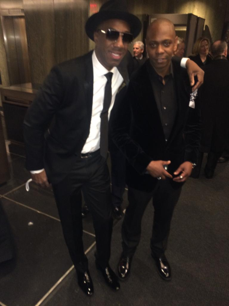 Yall crazy as hell! It's obvious I didn't see my great friend Dave Chappelle on the carpet. We're great! Get great! http://t.co/uXWjBNSMn4