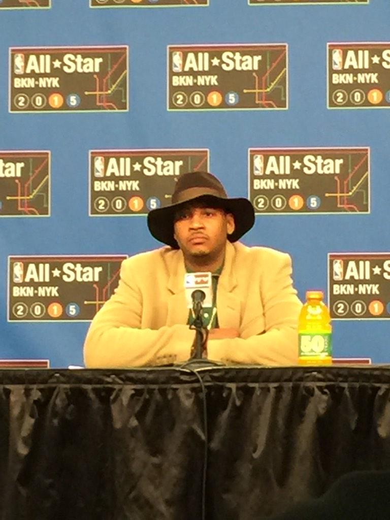 "Melo on Amar'e: ""It's hard for me to believe. It hasn't really sunk in. He's one of the main reasons I came to NY.""  http://t.co/dB8K7YxlF1"
