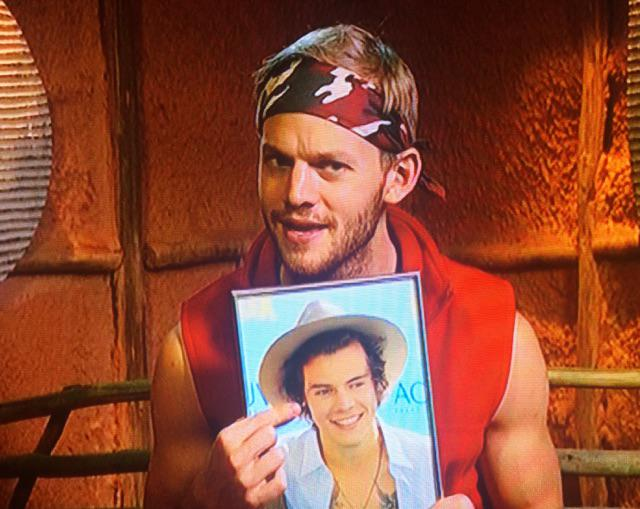 Should someone let @Harry_Styles know that #CelebJoel has a framed photo of him as his luxury item? #ImACelebrityAU http://t.co/veVxD6cgDD