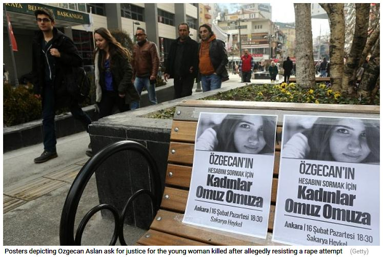 #Turkey: Hundreds protest as woman stabbed and burned 'after resisting rape attempt'. http://t.co/IfndRxZMpY http://t.co/oVXFn5dVm9