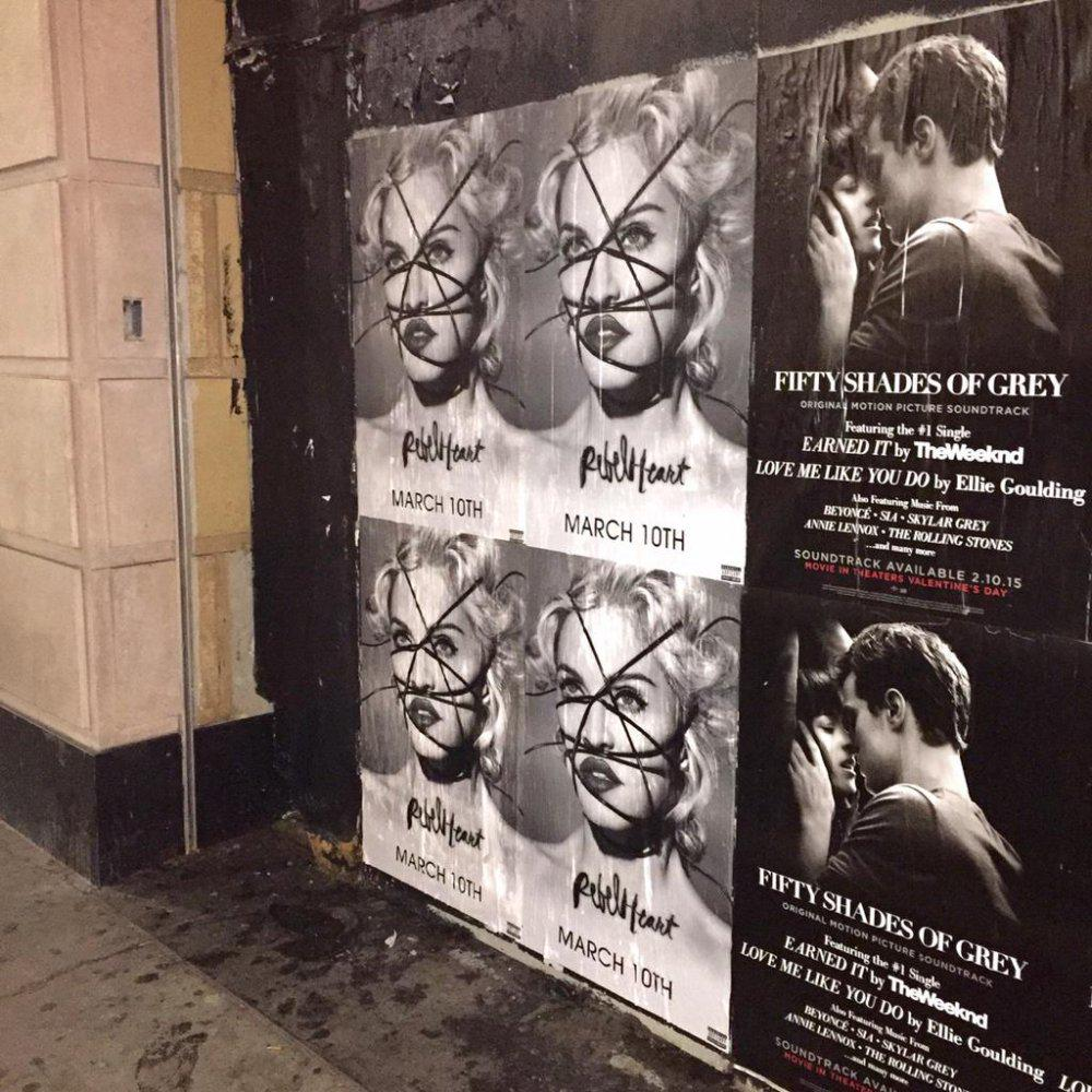@Madonna's #RebelHeart posters covering the walls of downtown LA @Interscope @GB65 @MBC_PR @guyoseary Thanks Walid! http://t.co/CByOvAfv8v