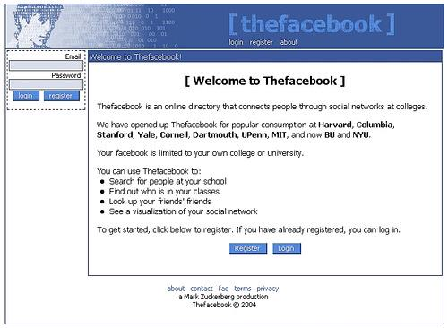 On This Day in 2004: The social media website Facebook launched. http://t.co/9fuVhz8ncx