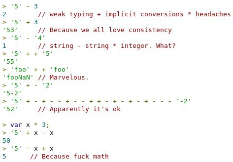 """@mariofusco: Everybody loves Javascript, isn't it? http://t.co/Dg4xQbJE8z"" #fb"