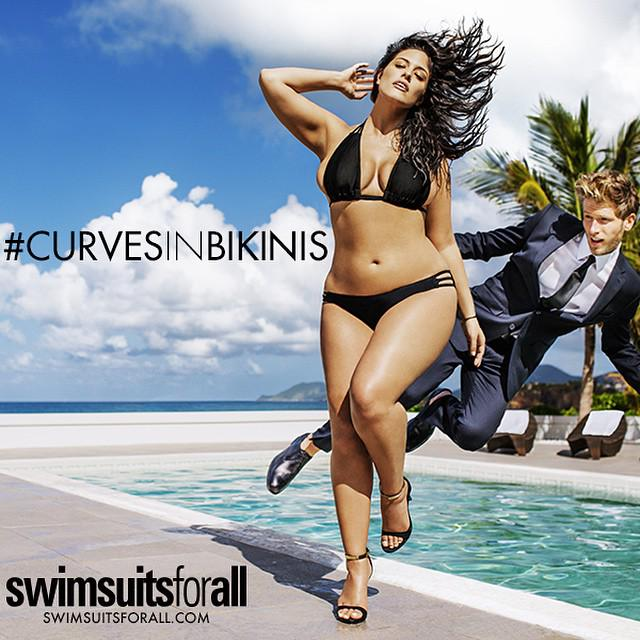 Sports Illustrated swimsuit issue will feature its 1st plus size model. Size 16 Ashley Graham http://t.co/j8wO7KpOPO