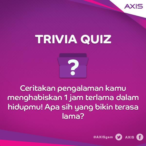 Yuk, jawab soal 4 Kuis Untung AXIS dengan format: jawaban + hastag #KUA sekarang! http://t.co/0vpMkv8Slq