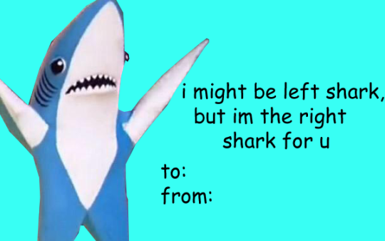 this Valentine's Day, i might be left shark, but i'm the right shark for u http://t.co/1xzvyVksuN