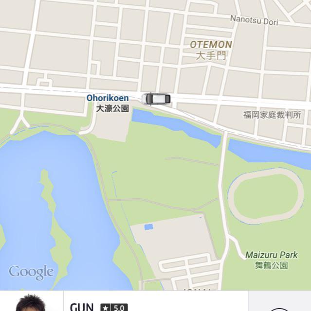みんなの #Uber 福岡 さっそく乗ってみた。 ドライバーさんも初めて乗せたらしく、いろいろと偉そうにアドバイス。 乗車後の評価(と支払い!!)がない以外は他の国でのUberXと変わりませんでした! 日本語も通じますー #fb http://t.co/UcJqOuSmwf